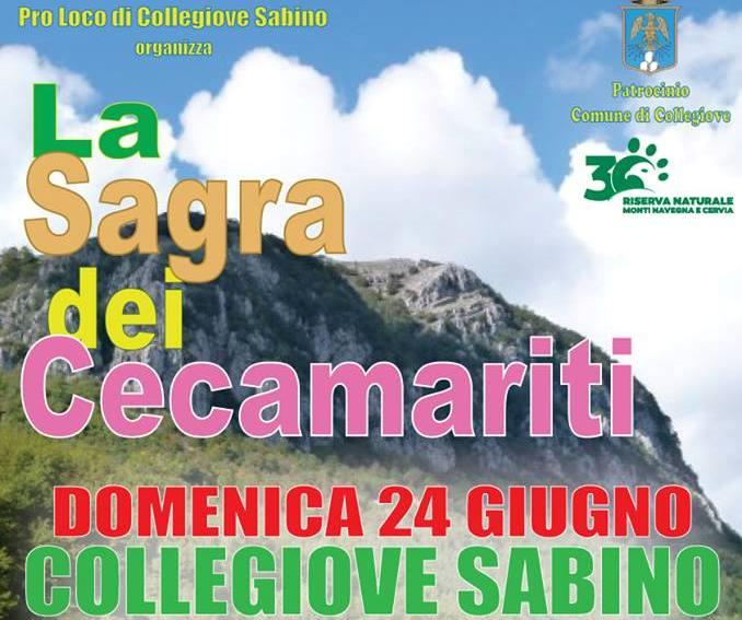 """A Collegiove Sabino, domenica di festa il 24 giugno con la """"Sagra dei Cecamariti"""", musica e mercatini della Riserva"""