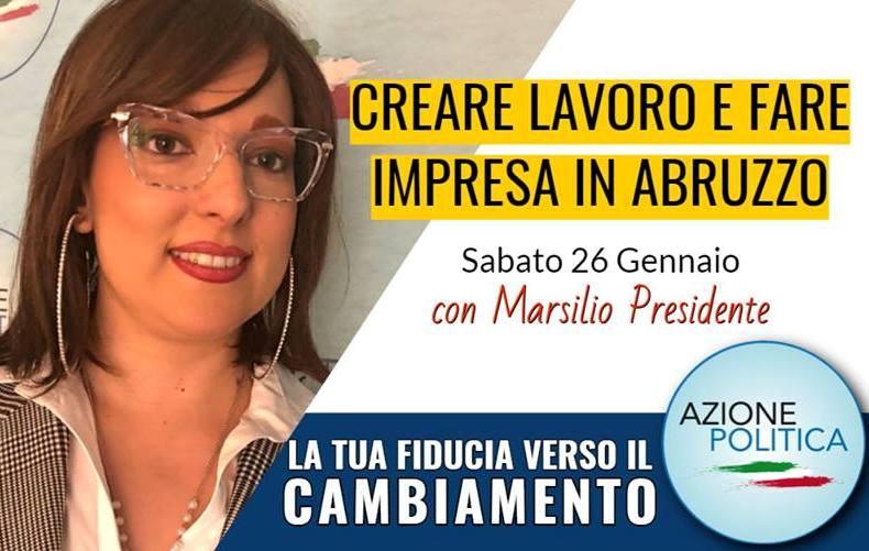 Elezioni, Rosa Pestilli in azione per creare lavoro e fare impresa in Abruzzo